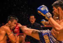 thai kick boxing training and fighting