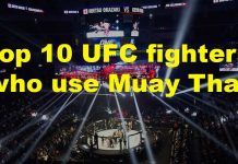 UFC fighters and thai boxing