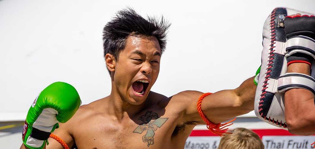 BLAU MUAY THAI KICKBOXEN BOXER TRADITIONELL ARMBÄNDER